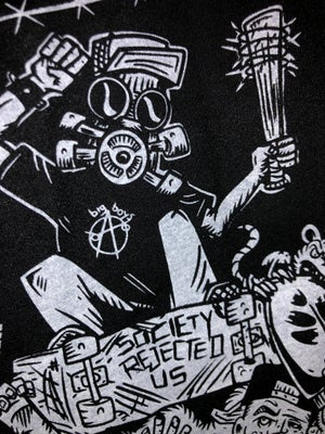 Image of **NEW**BSU 'Skatepunks Get Even' TS Art by Bobby Brown