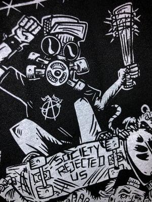 Image of **NEW**BSU 'Skatepunks Get Even' TS Art by Bobby Brown