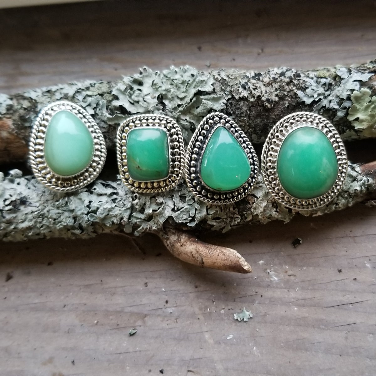 Image of Tortuga Ring - Chrysoprase in Sterling Silver