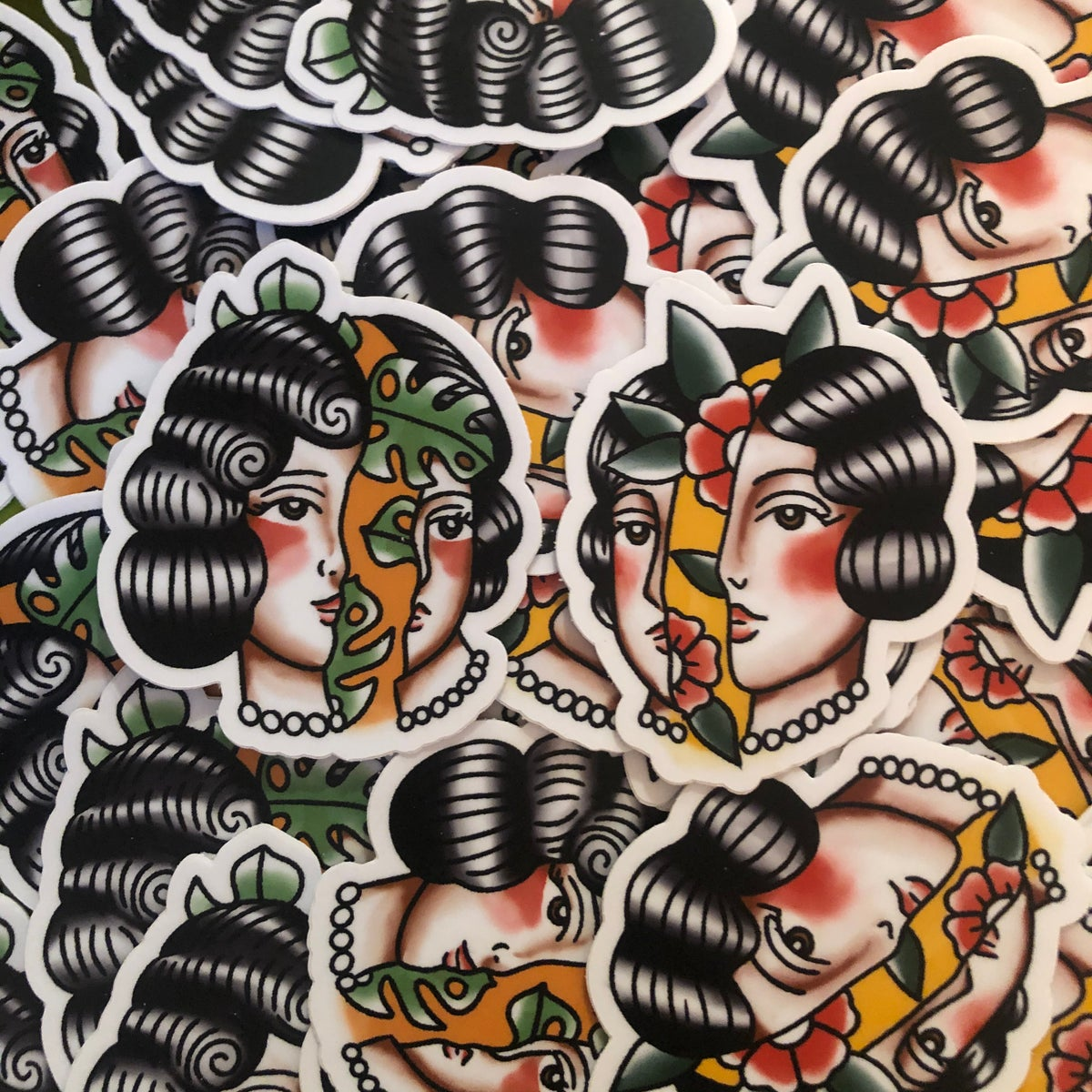 Split head stickers (2 pack)