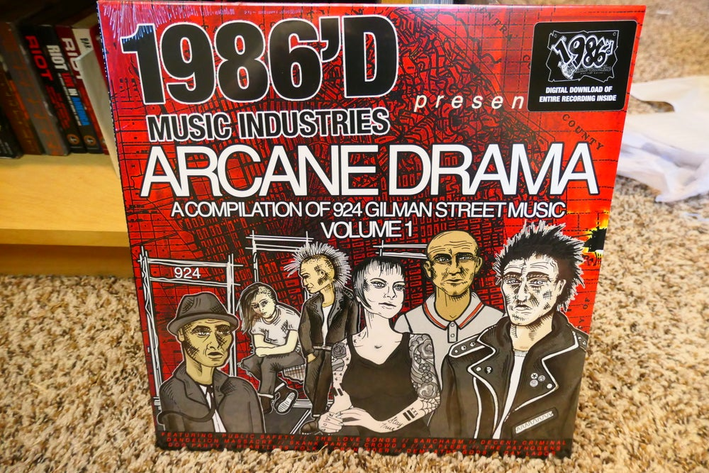 Image of 1986'd Music Industries Present: Arcane Drama - A compilation of 924 Gilman St Music Vol. 1 LP
