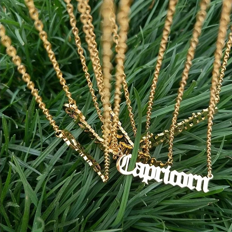 Image of Zodiac Sign Necklaces