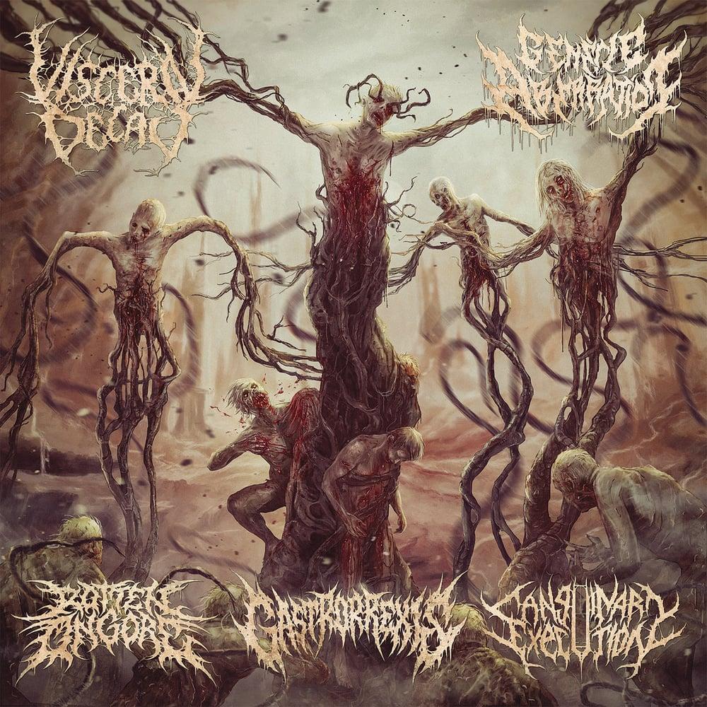 Image of Various Artists - Sutured Bleeding Wounds (5 Way Split) CD