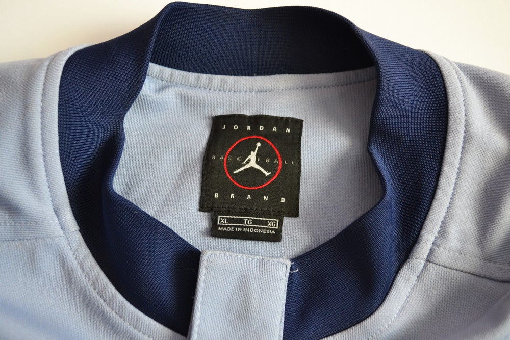 Image of Vintage 1998 Nike Air Jordan XIII Flint Warm Up Shooting Shirt Sz.XL