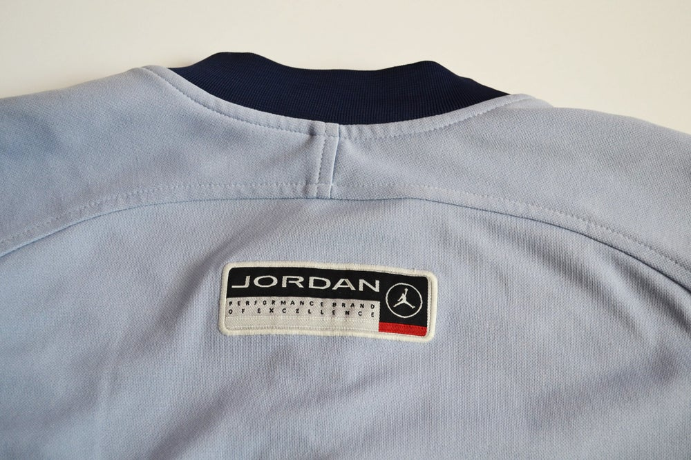 Image of Vintage 1998 Nike Air Jordan XIII Flint Warm Up Shooting Shirt Sz.XL