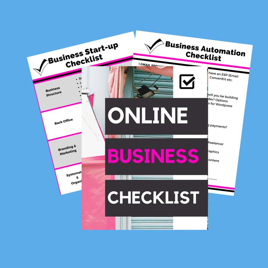 Image of Online Business Starter Checklist