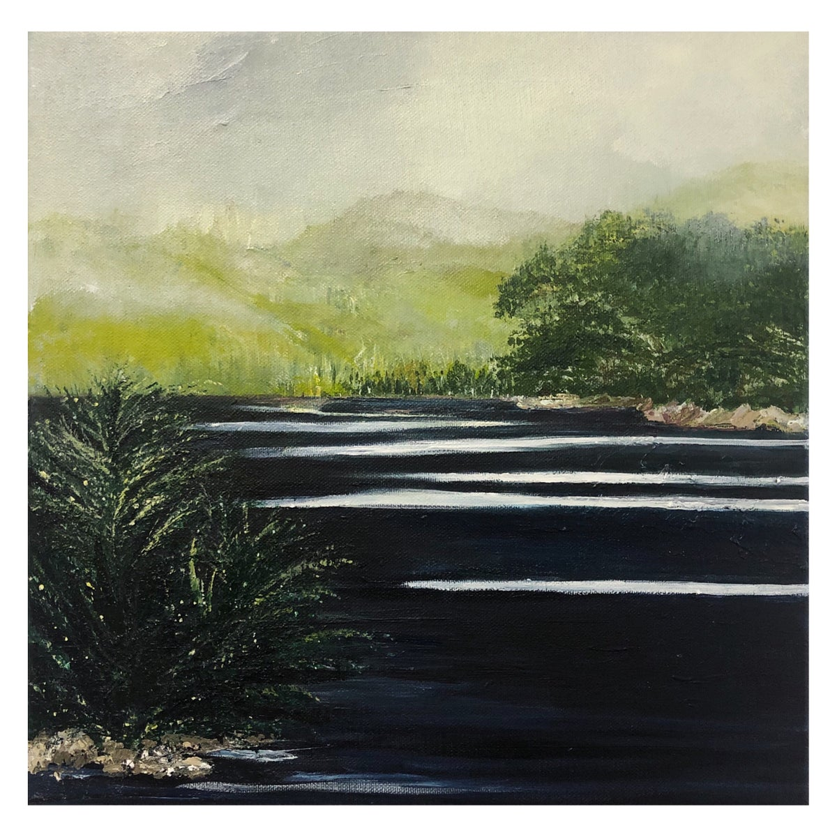 Image of Grampians Descent 2020 Acrylic on canvas