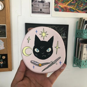 Image of Black Cat Knives Painting