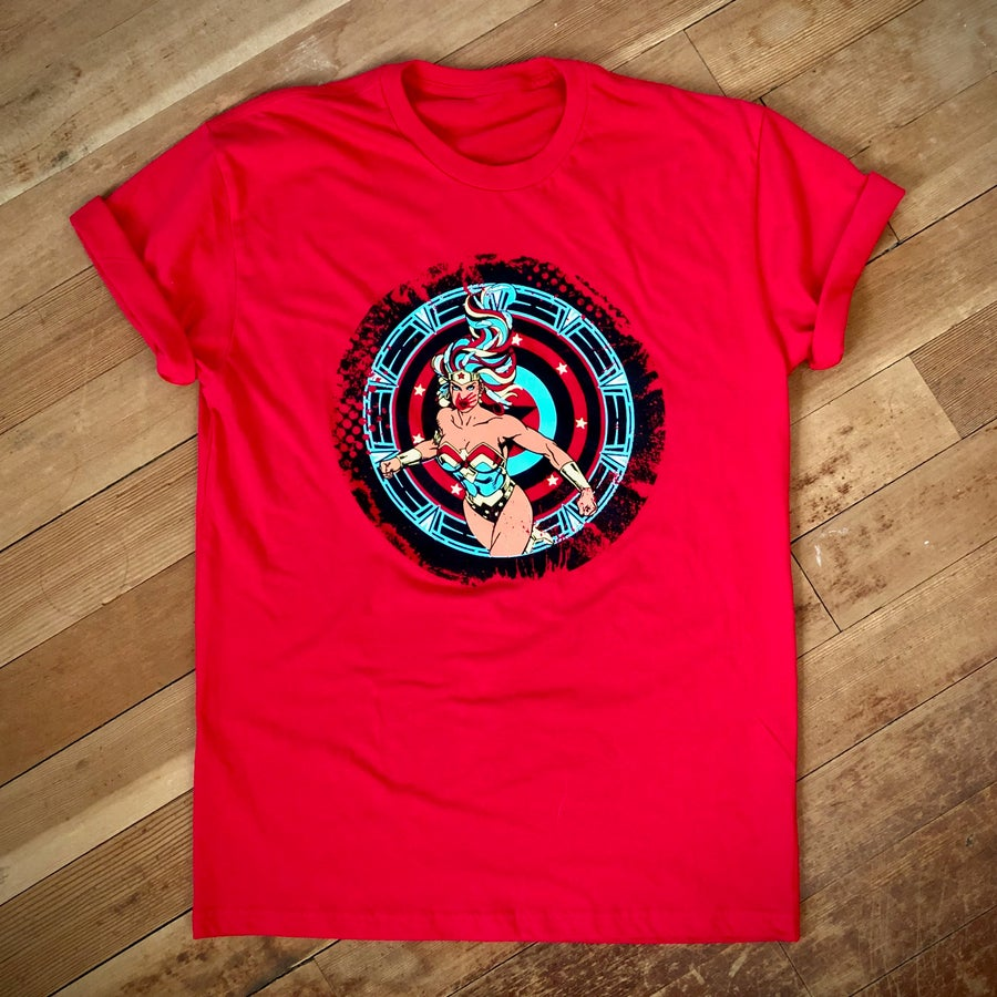 Image of Red Super Power Tee