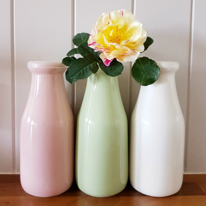 Image of Large Milk Bottle ~ Three Colours