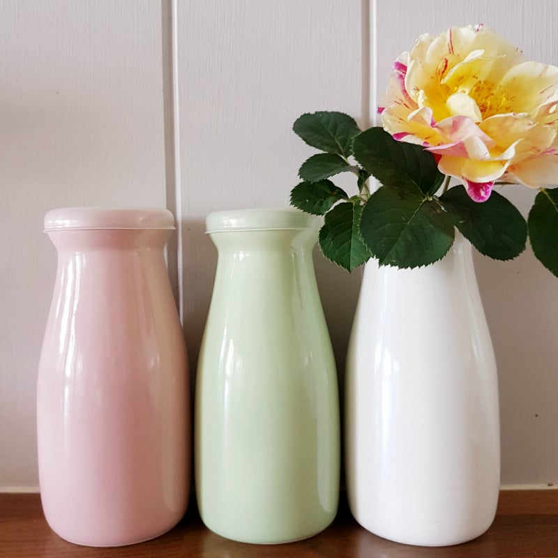 Image of Small Milk Bottle ~ Three Colours