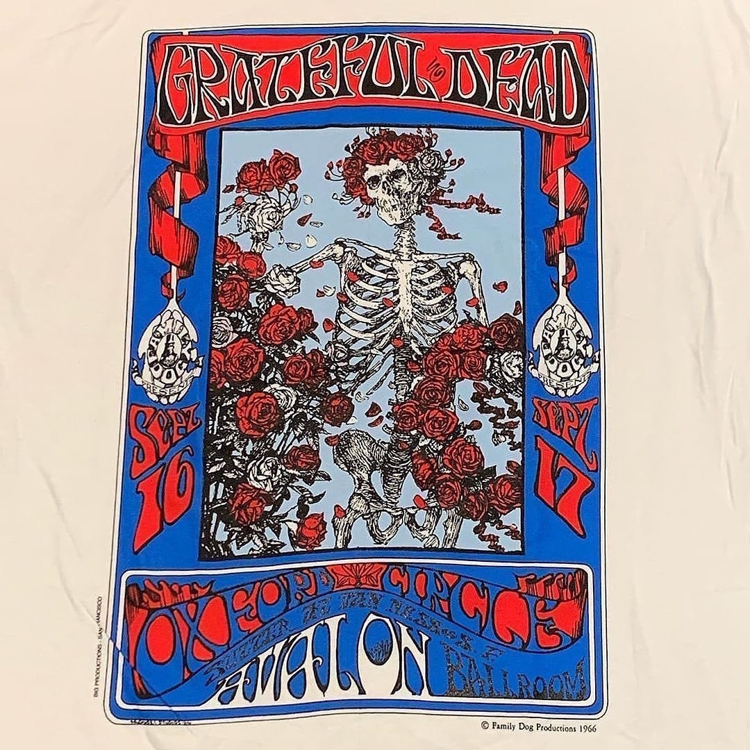X-LARGE Original Vintage Grateful Dead 90's Stanley Mouse Bertha