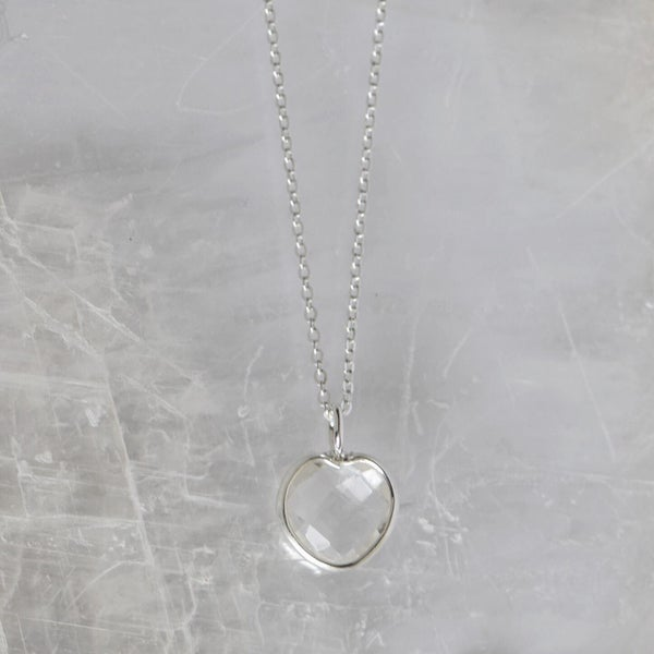 Image of Angel Heart x Clear Quartz necklace