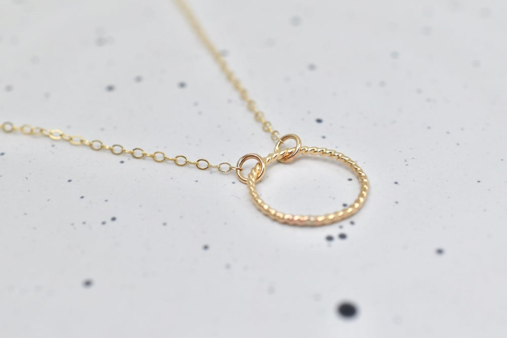 Image of Circle Weave Necklace