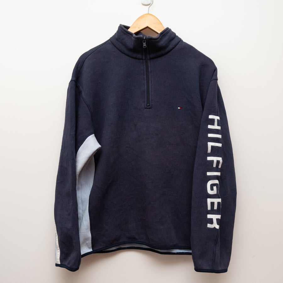 Image of Tommy Hilfiger Quarter Zip Spell Out