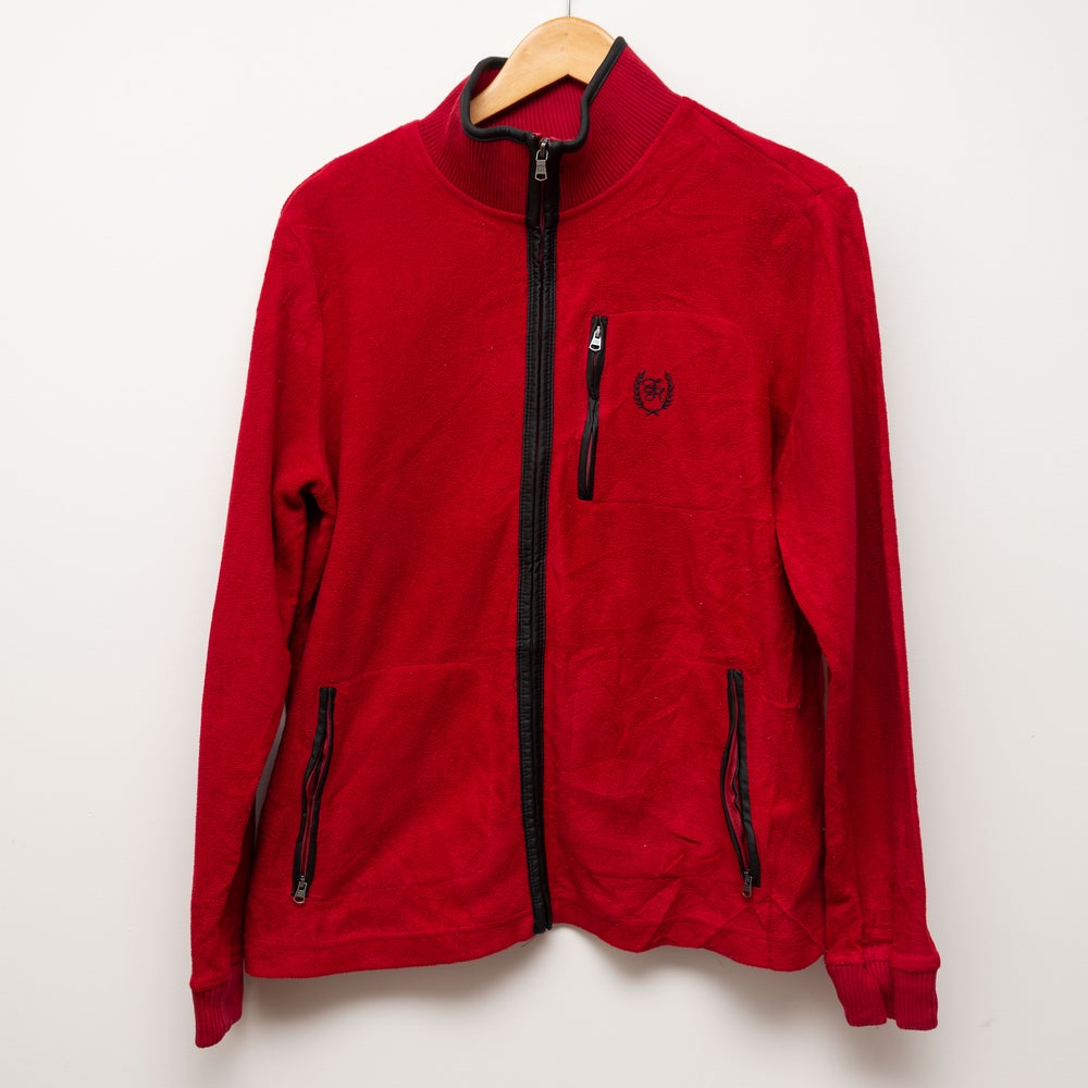 Image of Tommy Hilfiger Red Zip Up Fleece