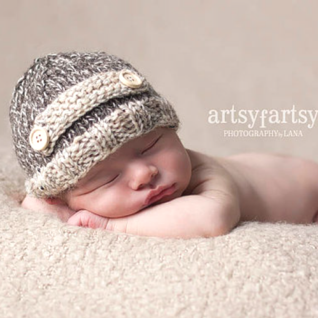 Image of Lil' Tweed Beanie Knitting Pattern