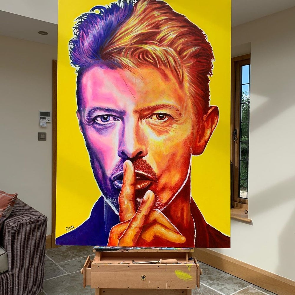 David Bowie by Jeff Williams (Premium Canvas Prints)