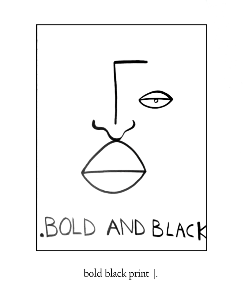 Image of the black series ~ prints