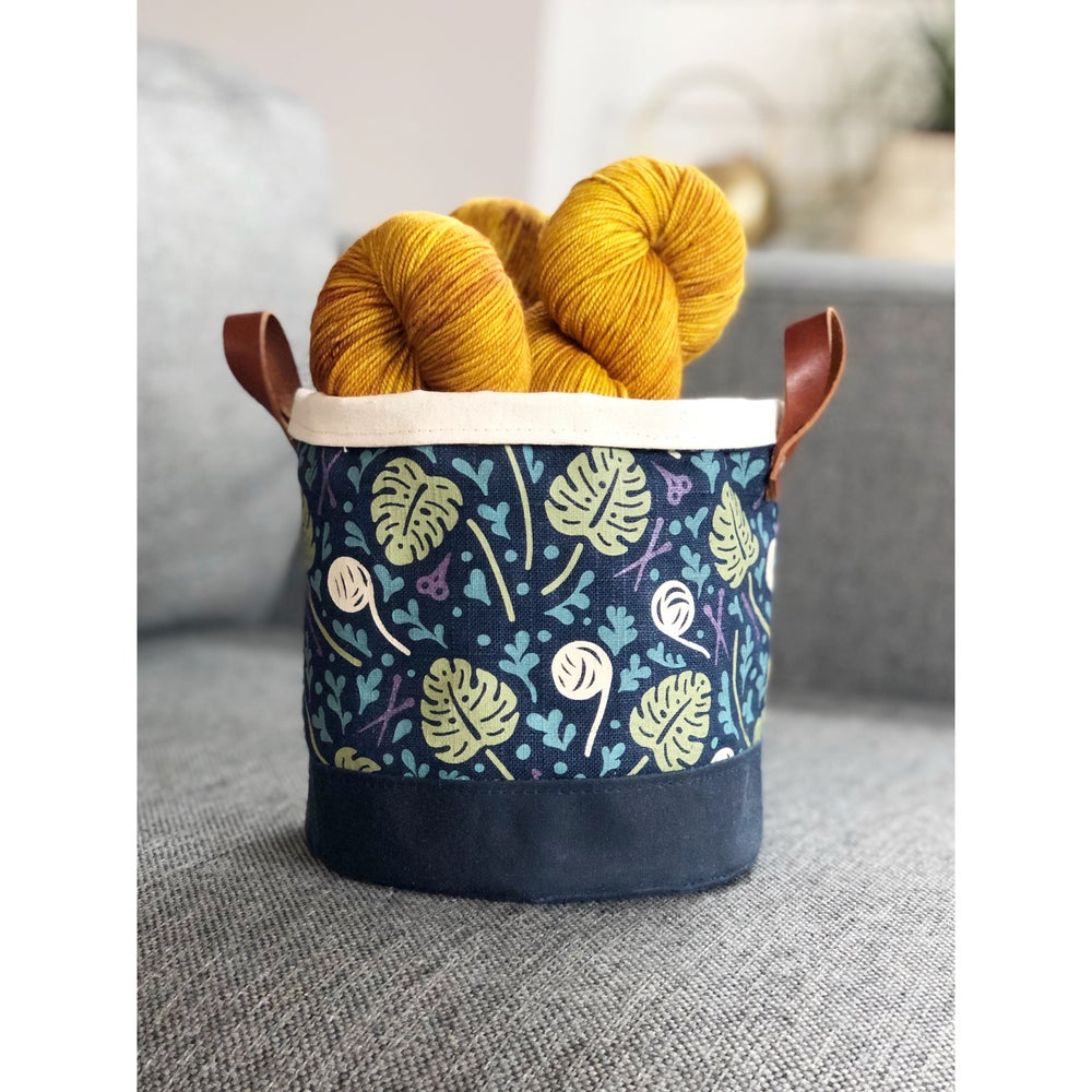 Image of Navy Plant/Fiber Lady Project Basket