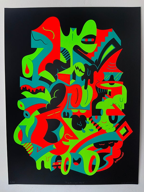 Image of Psychoscape No. 5 Black Light Print