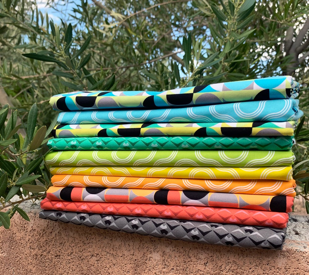 Good Vibes 10 Saturated Prints (Fat Quarters, 1/2 Yard or Full Yard Bundle)