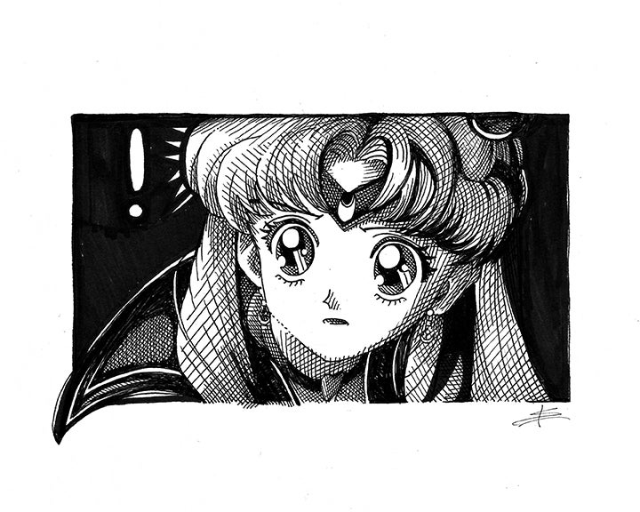 Image of SAilor Moon 8x10 Inking
