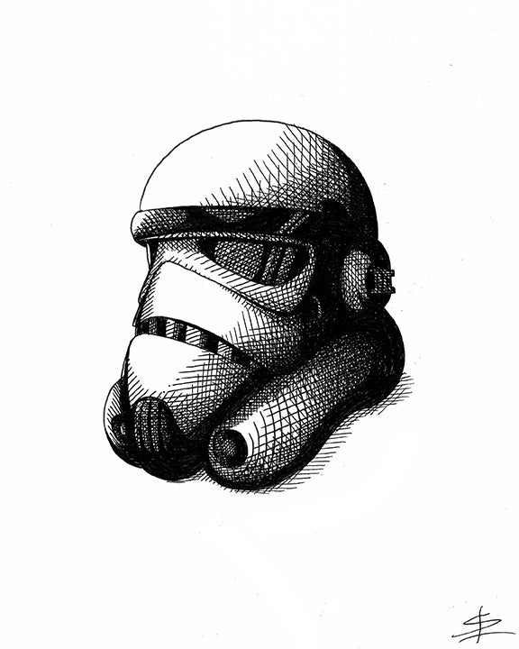 Image of Storm Trooper 8x10 Inking