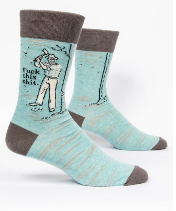 Image of F This Shit Men's Crew Sock