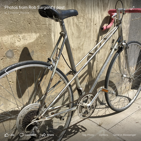 Image of 56 cm Light weight 'Mixte' ladies light tourer built from 531 tubing.