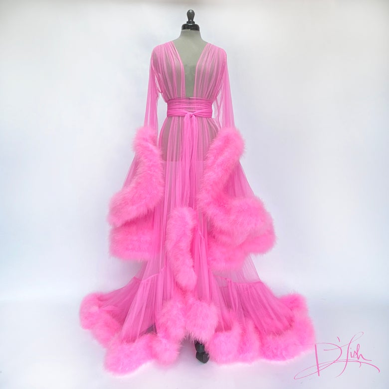 "Image of Totally Pink Deluxe ""Cassandra"" Dressing Gown"