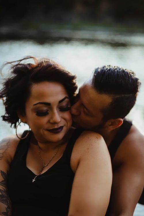 Image of Reserved for Jennifer N - River couples Sunset Session