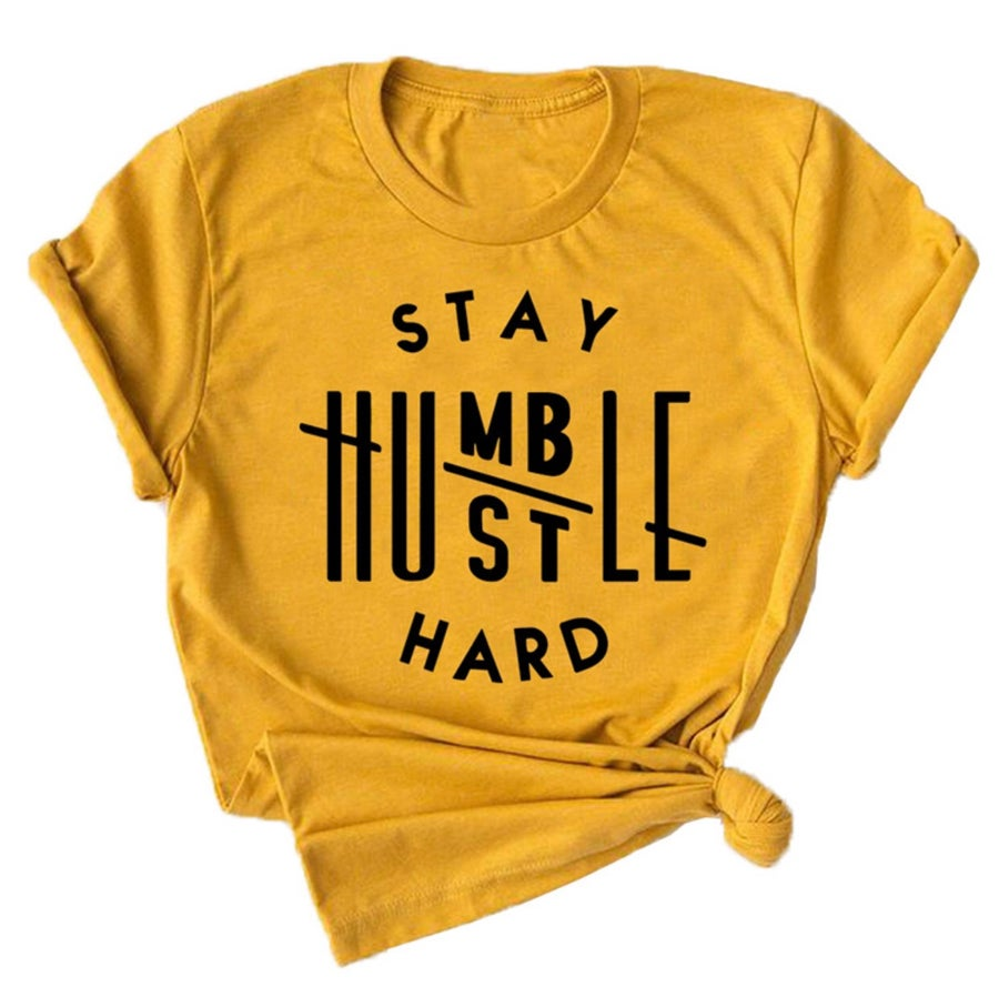 Image of Stay humble Tee YELLOW (Women's)