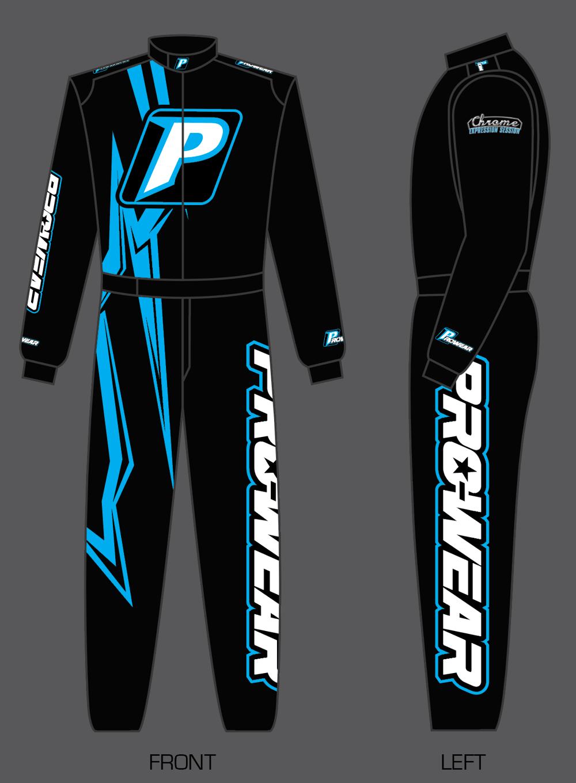 Prowear x Chrome Single Layer Race Suit - Blue