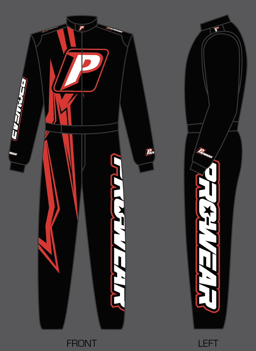 Prowear x Chrome Single Layer Race Suit - Red