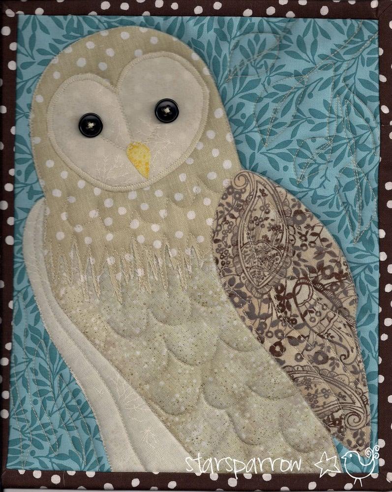 Starsparrow Barn Owl Quilt Cleo