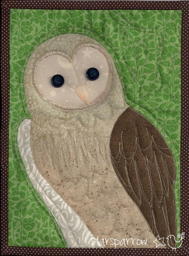 Starsparrow Barn Owl Quilt Jasper