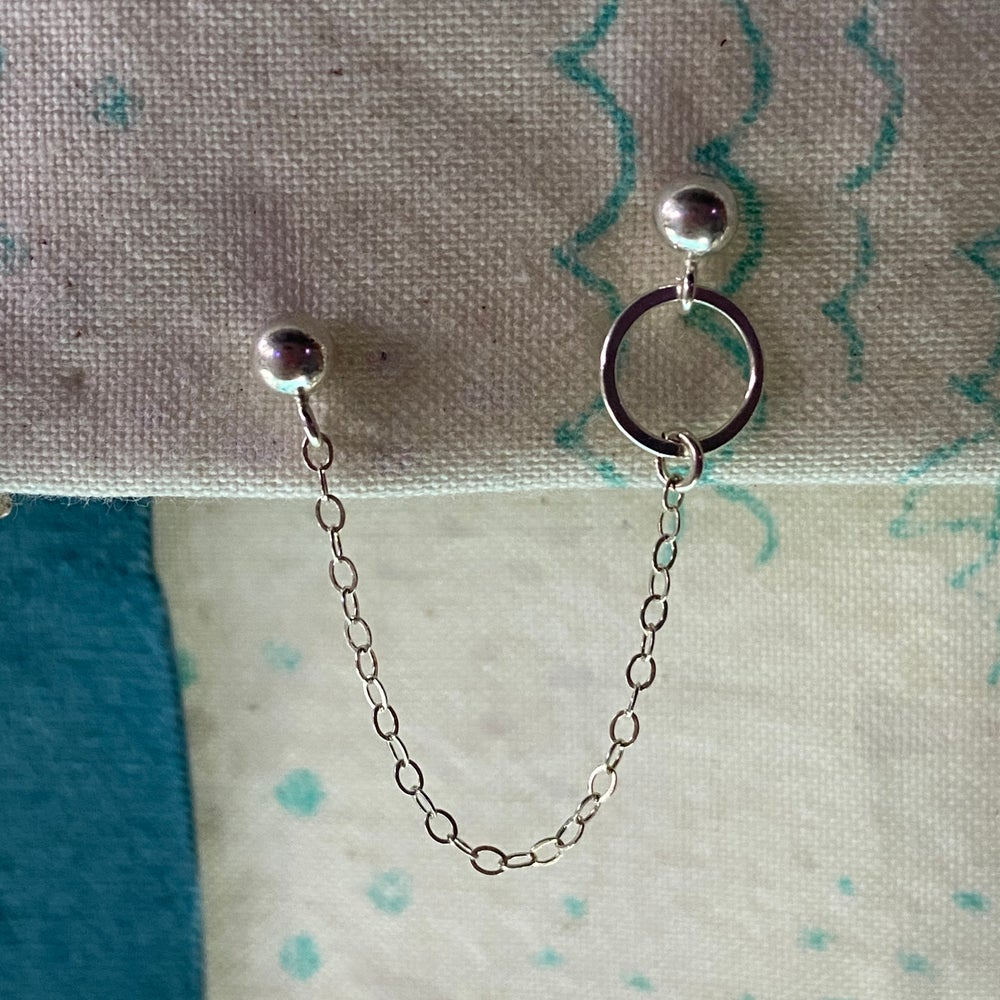 Image of Circle and dot earring