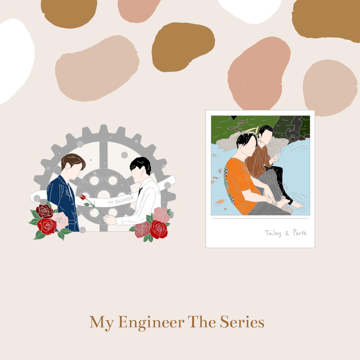 [PO] My Engineer The Series Rose/Talay & Perth Enamel Pin