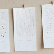 Image of 2011 letterpress calendar