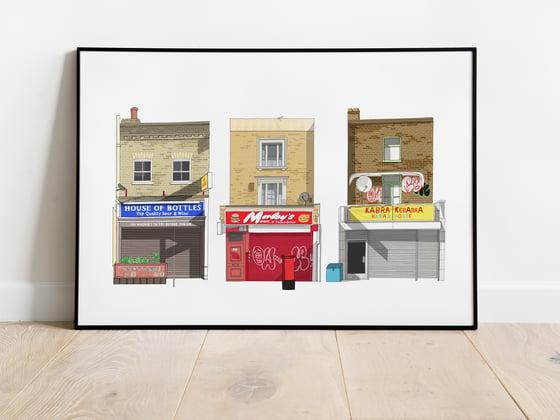 Image of South London Shopfronts A3 Art Print