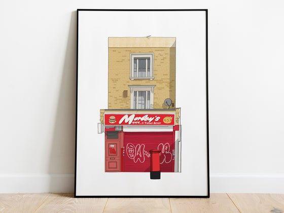 Image of Chicken Shop A3 Art Print