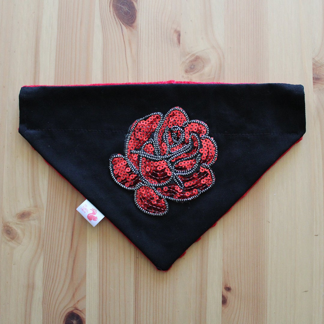 Image of Sequin rose dog bandana