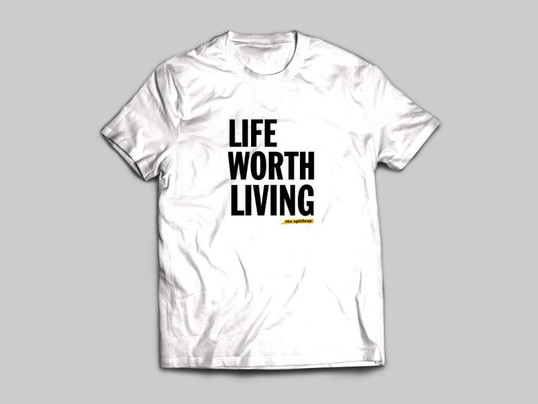 Image of The Spitfires 'Life Worth Living' Album T-shirts
