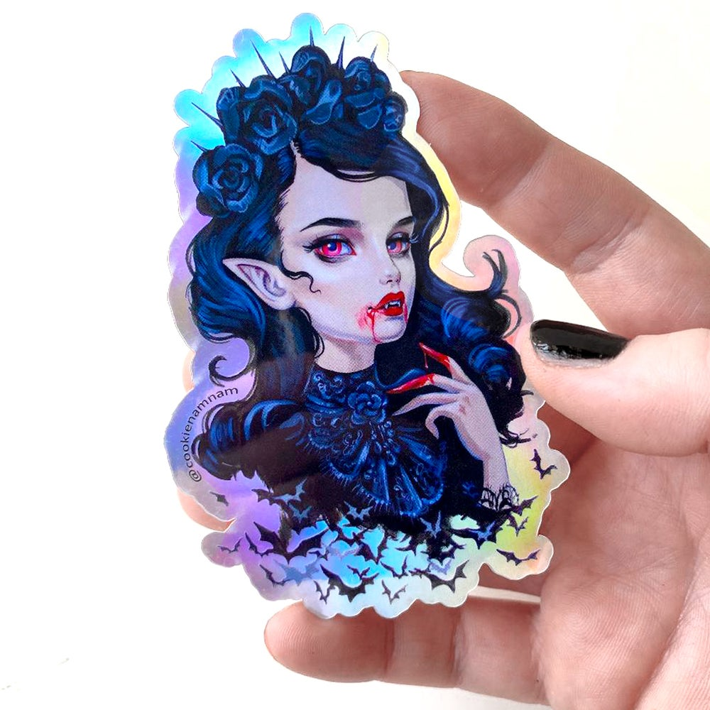 Image of Holographic Vampire Sticker