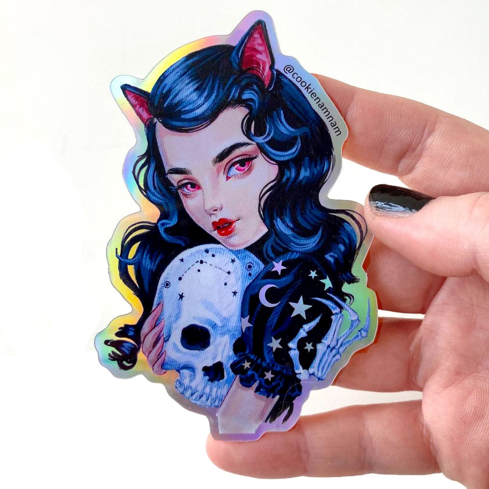 Image of Holographic Cat Girl Stickers