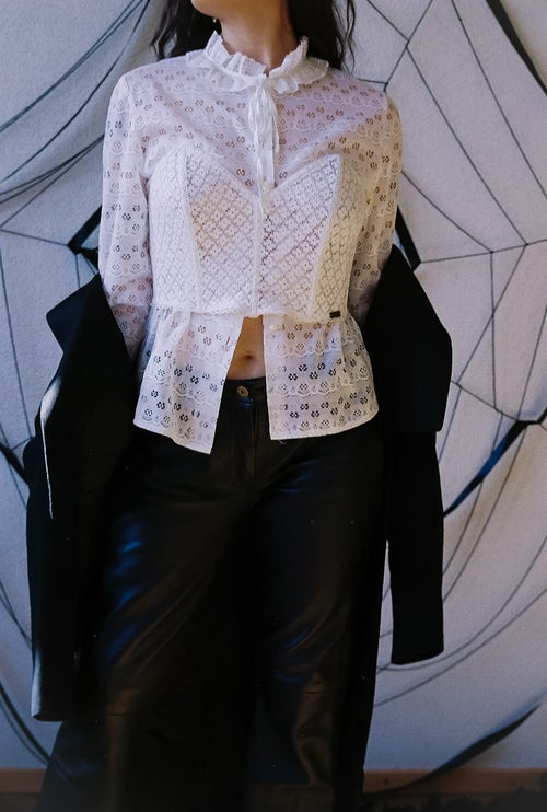 Image of White Victorian Blouse