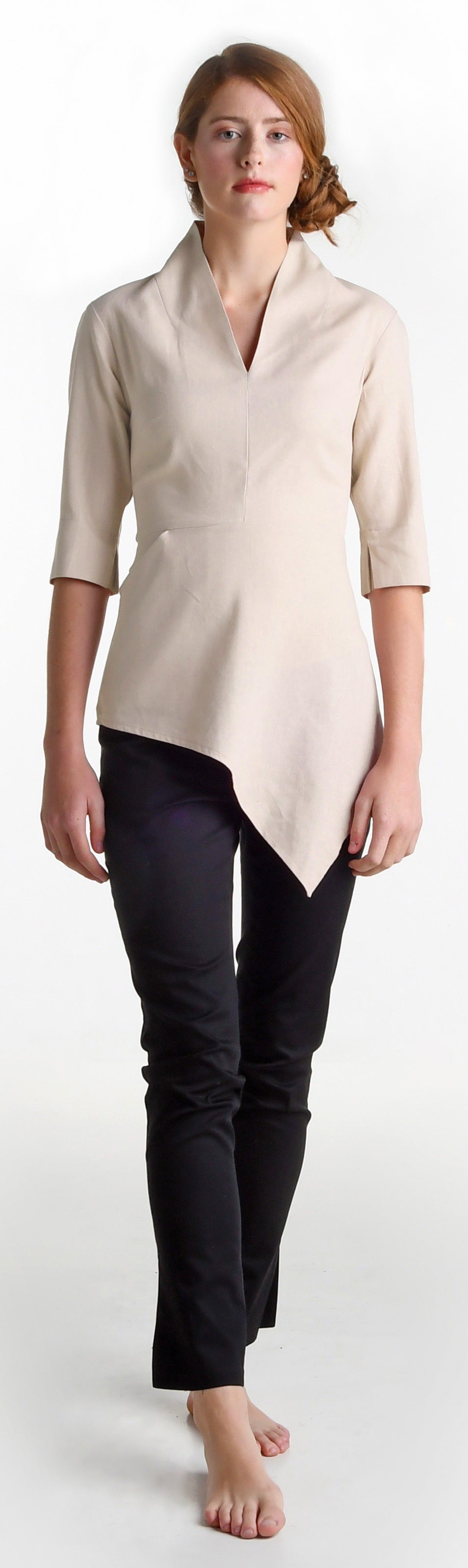 Image of Elmira Cromwell top in natural
