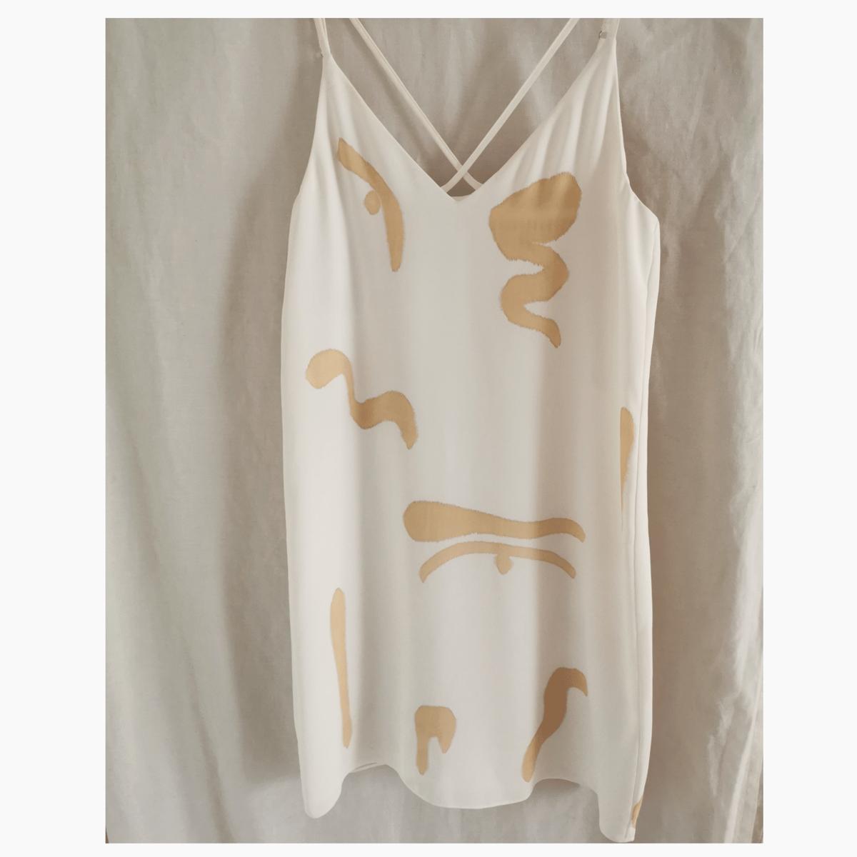 Image of bold line cami dress