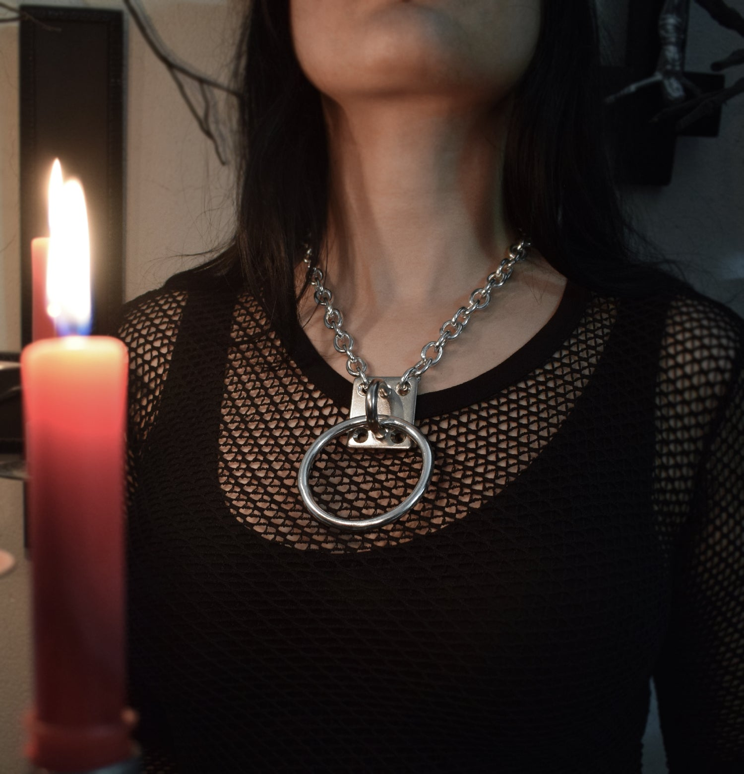 Image of 316 stainless steel sexy O-ring Chain Choker -  FREE SHIPPING